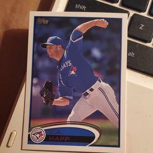 J.a. happ baseball card